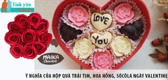 Ý nghĩa của hộp quà trái tim, hoa hồng, sôcôla ngày Valentine