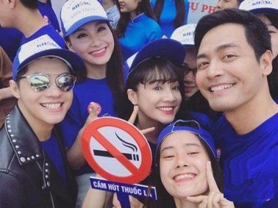 Các nghệ sĩ Việt trong chương trình về thuốc lá