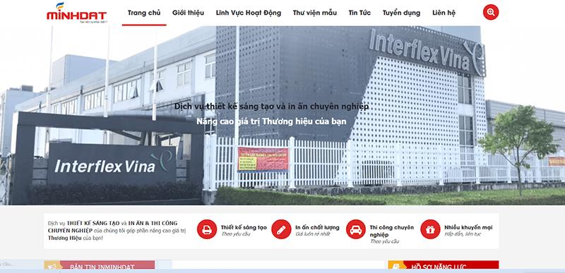 Website công ty In Minh Đạt